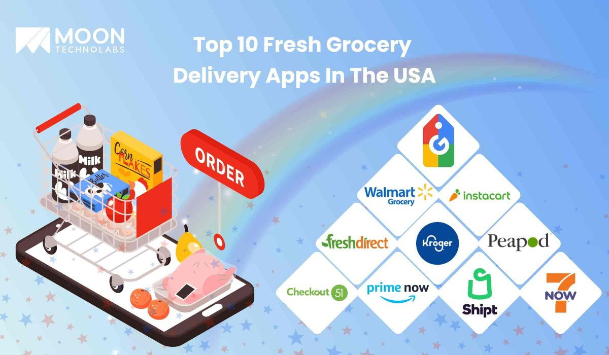 Top 10 Fresh grocery app development solutions In The USA - Moon Technolabs
